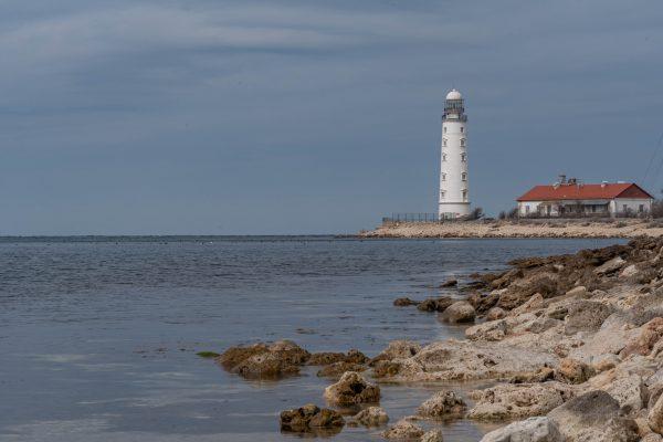 Крым Севастополь Херсонесский маяк Маяк в Бухте Казачей