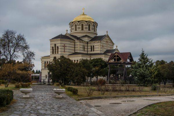 Крым Севастополь Владимирский кафедральный собор в Херсонесе
