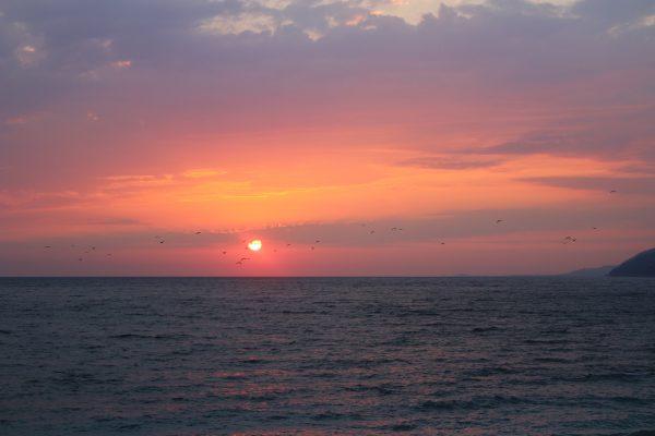 Абхазия море закат