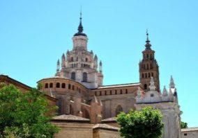Испания собор в тарасоне, собор в испанской провинции, провинциальные города испании, достопримечательности городов испании, камень, башня, купол, христианство, католический собор